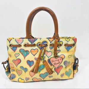 Dooney & Bourke Crayon Hearts Mini Tassel Tote Bag